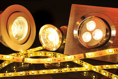 Verschiedene LED Lizenzfreies Stockbild