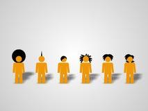 Verschiedene Leute. Stockbild