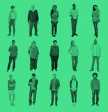 Verschiedene Leute-Glück-Freundschafts-frohe Naturen lizenzfreies stockfoto