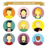 Verschiedene Leute-Illustrations-Vektor-Illustrations-Grafik Lizenzfreies Stockbild