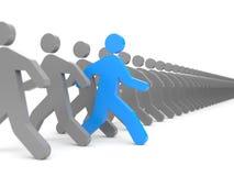 Verschiedene Leute Laufen Sie zu den neuen Gelegenheiten Lizenzfreies Stockbild