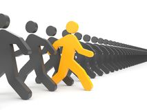 Verschiedene Leute Laufen Sie zu den neuen Gelegenheiten vektor abbildung