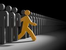 Verschiedene Leute Laufen Sie zu den neuen Gelegenheiten lizenzfreie abbildung