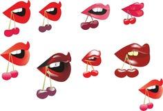 Verschiedene Lippen Stockfotografie