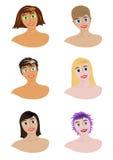 Verschiedene Mädchen lizenzfreie abbildung
