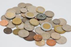 Verschiedene Münzen Lizenzfreies Stockfoto