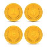 Verschiedene Münzen Stockbild