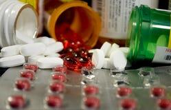 Verschiedene Medizin und Betäubungsmittel Stockbild