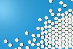 Verschiedene Medizinpillen vereinbart im Schachbrettmuster vektor abbildung