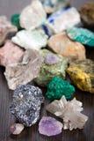 Verschiedene Mineralien Stockbild