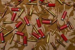 Verschiedene Munition Lizenzfreie Stockfotografie