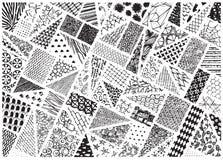 Verschiedene Muster verfolgt Lizenzfreie Stockfotografie