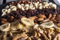 Verschiedene Nüsse und trockene Früchte Lizenzfreies Stockbild