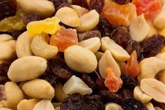 Verschiedene Nüsse und Trockenfrüchte Lizenzfreies Stockbild