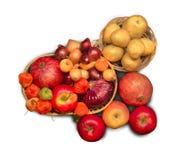 Verschiedene Obst und Gemüse Lizenzfreie Stockfotos