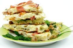 Verschiedene Omelette Lizenzfreie Stockbilder