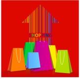 Verschiedene Papiereinkaufstaschen Lizenzfreies Stockbild