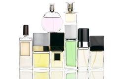 Verschiedene Parfüme eingestellt lizenzfreie stockfotos