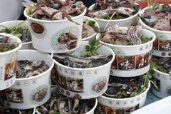 Verschiedene Peking-Imbisse. Stockbild