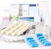 Verschiedene pharmazeutische Produkte Stockbilder