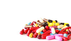 Verschiedene Pillen Lizenzfreies Stockbild