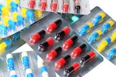 Verschiedene Pillenkapsel Stockbild