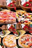 Verschiedene Pizza Stockfotografie