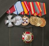 Verschiedene Preise und Medaillen Lizenzfreie Stockbilder