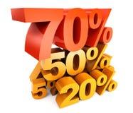 Verschiedene Prozente stock abbildung