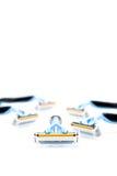 Verschiedene Rasierrasiermesser lokalisiert auf einem weißen Hintergrund Lizenzfreie Stockfotografie