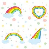 Verschiedene Regenbogen Lizenzfreie Stockfotos