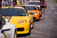Verschiedene Rennwagenqualifikationssitzung Stockfoto