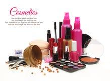 Verschiedene Schönheitsprodukte Stockfoto