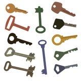 Verschiedene Schlüssel Lizenzfreie Stockfotos