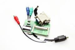 Verschiedene Schnüre und Adapter mit einem Chip Lizenzfreie Stockbilder