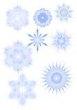 Verschiedene Schneeflocken Stockfoto