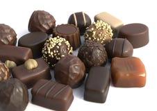 Verschiedene Schokoladen Stockfoto