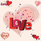 Verschiedene Schreiben der Liebe Stockbild