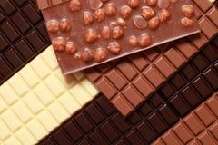 Verschiedene Sortierungen der Schokolade Stockbilder