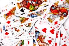Verschiedene Spielkarten Stockbilder