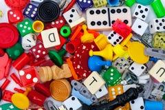 Verschiedene Spielstücke Stockfotos