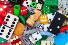 Verschiedene Spielstücke Lizenzfreie Stockfotografie
