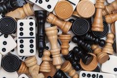 Verschiedene Spielstücke Lizenzfreie Stockbilder