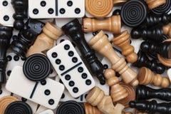 Verschiedene Spielstücke Stockbilder