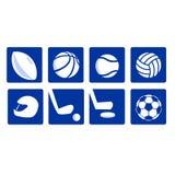 Verschiedene Sportikonen vectored Lizenzfreies Stockfoto