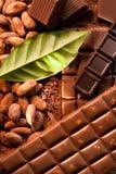 Verschiedene Stäbe der Schokolade Stockbilder