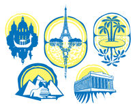 Verschiedene Städte Vektor Abbildung