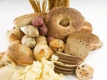 Verschiedene stärkehaltige Nahrungsmittel Stockbild
