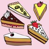Verschiedene Stücke des Kuchens Lizenzfreies Stockfoto