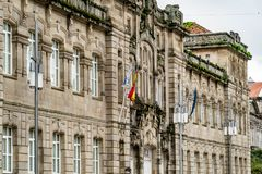 Verschiedene Standorte in der Stadt von Pontevedra stockfotografie
